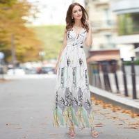 09581 Plunge V Neck Open Back Halter Sequins Padded Long 2014 sexy side slit prom dress