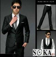 New Mens slim fit one button Three-Piece Suit(Coat+Vest+Pants)-SK42