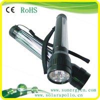 high quality 7 LED aluminum solar LED flashlight