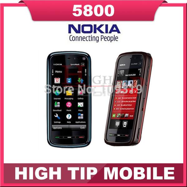 100% Nokia brand 5800 XpressMusic Refurbished unlocked original 3G WIFI GPS phone 5800 3.2MP 1 year warranty Free shipping(China (Mainland))