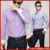 Get Cufflinks for Free! Mens Luxury French Dress Shirt / Tuxedo Shirts men's formal wear S-5XL