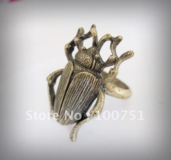 Latest new design antique insect vintage cool punk design alloy ring free shipping(China (Mainland))