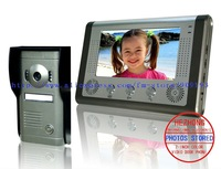 """Free shipping 7""""wired colour handfree taking photos visual interphone doorbell 1 outdoor panel with 1 monitor"""