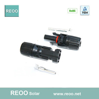 MC4 Solar Connector with Protecting bush for PV Systems with VDE and IP65 used for 2.5/4/6mm2 cables