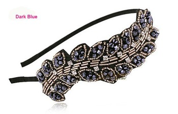12pcs/lot Premium Quality Crystal Alice Band, Vintage Hair Band Headband, Fashion Hair Accessories,Free Shipping