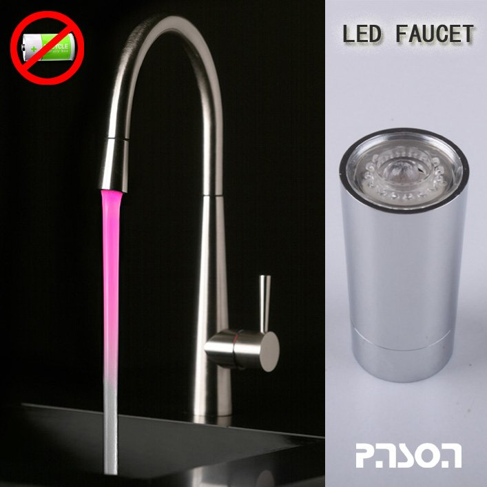 brass led faucet new design ,two screw thread(China (Mainland))