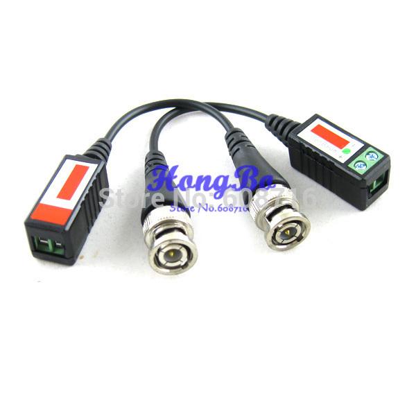 Freeshipping Twisted BNC CCTV Video Balun passive Transceivers UTP Balun BNC Cat5 CCTV UTP Video Balun up to 3000ft Range(China (Mainland))
