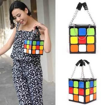 Girl Women's Cute Magic Cube Bag Handbag Purse Gift Lady New Small Bags  WB032