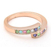 Rose Gold Plated Rings for Women Wedding Engagement Austrian Crystal Rings Fashion Charm Jewelry 4463