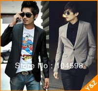 Free shipping!Good quality 2013 Fashion Stylish Casual slim fit Long sleeve formal black blazers for men, China Size: M-3XL,K01