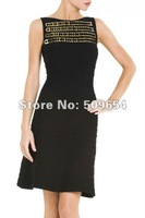 FREE SHIPPING Bandage Celebrity Fashion Dress Women Black Cocktail Party Prom Dress