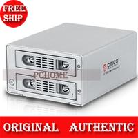 2-bay 3.5-inch SATA HDD Enclosure, Aluminum Alloy Material/6TB Capacity/USB 3.0/eSATA/Clone Function