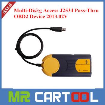 2014 Latest Professional Multi-Di@g Access J2534 Pass-Thru OBD2 Device 2013.02V Powerful J2534 Interface multi diag
