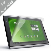 Free Shipping Wholesale 50pcs Clear Screen Protector Film with Simple Packing for Acer Iconia Tab A500 A501 10.1 Inch Tablet