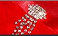 Droplet Rhinestone Buckles For Wedding Invitations Made of Czech Rhinestone--------BU040