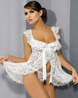 Plus size! S~XXL  3 colors Sexy underwear sexy babydolls SWEET lace lingerie sleepwear for women white black pink K888