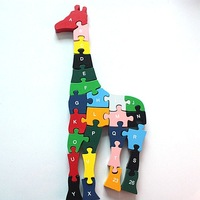 Wooden giraffe Jigsaw Puzzle Kids numeral Learning Kit  #2001