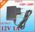 AC / DC 12V Power adapter 12V 1A switching power supply Charger adaptor 50pcs EU Plug DHL free shipping