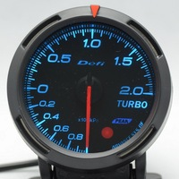 2.5 INCH 60MM Auto Defi Gauge, Defi BF Gauge, car meter TURBO BOOST Meter, Blue and White Light