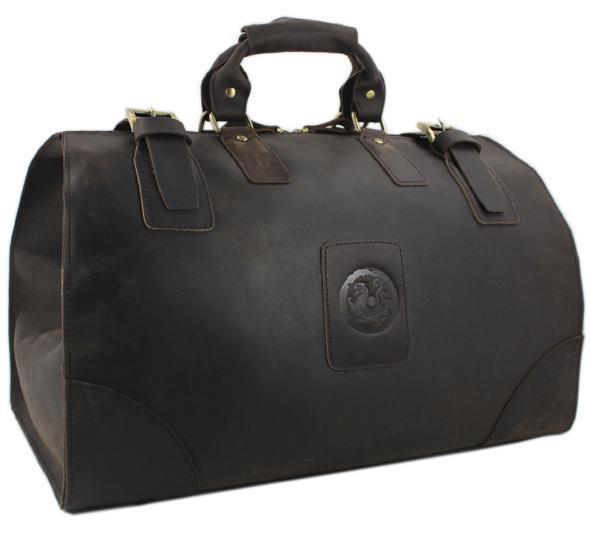 Vintage main crazy horse en cuir des hommes sacs de voyage grand bagages.& sacs polochons hommes en cuir véritable voyage sacs d'emballage grand