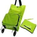 Portable folding wheel bag/ shopping traveling bag