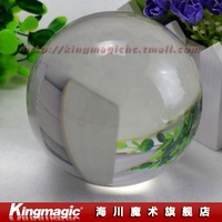 100MM Clear Crystal Ball/ light crystal ball/ contact juggling/with good package/ magic props/New arrival/ Free shipping by CPAM