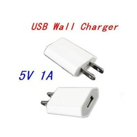 New Universal High Quality 5V 1A Travel Power Plug Adapter Charger USB Adapter US Plug Cable Charge For iPhone 5 4 4S 10Pcs/Lot