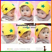 Sunshine store #2C2559 30pcs/lot(4 colors) style cute fashion baby hat infant cap boys&girls hat colorful STAR hat  knitted EMS