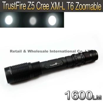 TrustFire Z5 Cree XM-L T6 1600LM Zoom LED FlashLight Torch Light Lamp