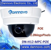DANNOVO 720P Wired POE 2.0MegaPixels HD IP Vandal-proof Dome Camera Outdoor IP Camera,Support Win7,iPhone,Android,Audio,SD card
