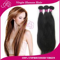 """Peruvian Virgin Hair Straight 3pcs Lot 10-30"""" Color 1B Cheap Human Hair Weaves Straight Rosa Queen Hair Products Wholesale Hair"""