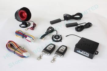 promotion smart car alarm,passive keyless entry,auto lock  unlock car door,push button start-stop,smart key induction HY-904 RM2