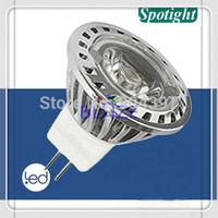 Free Shipping ! ! ! High Power 1x3W led lighting MR11 3W Warm Cold White 12V DC led spotlight