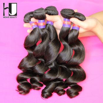 Fast Shipping unprocessed HJ malaysian loose wave virgin hair human hair weave 6a virgin hair mix 3pcs/lot