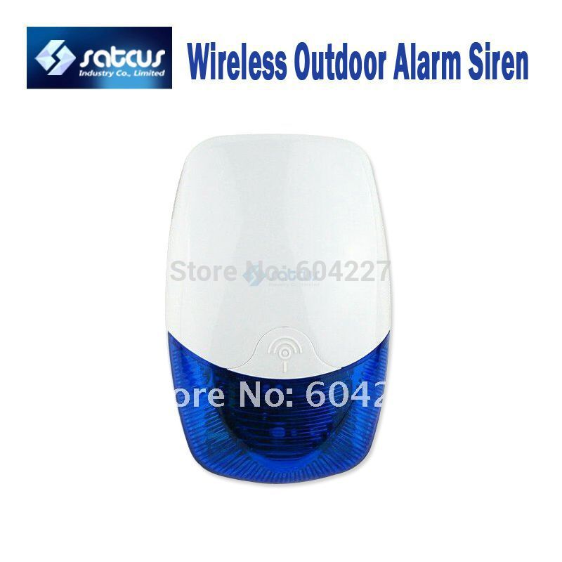 Free Shipping! Wireless Outdoor Waterproof Alarm Siren Horn with Strobe Light for Home GSM Alarm Systems(China (Mainland))
