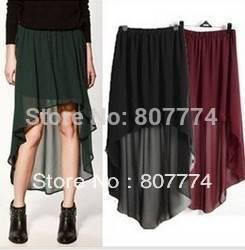 Wholesale Retro 2015 Summer Autumn women Irregular chiffon skirt Bust skirt Ladies Fashion skirt #2020