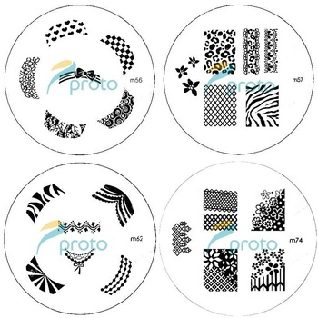 SG Post [PROMOTION] 20pcs M Series Round Stainless Steel Image Plate Nail Art Stamping Plate Template SKU:C3001X