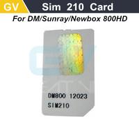 1pc post sim card 800hd Sim Card 210 2.10 for sunray 800 hd dm800 800 hd dm800hd 800hd satellite receiver cable receiver