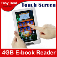 "7.0"" LCD Touch Screen Ebook Reader Built-in 4GB 720P E-Book Reader With Recording Music Video Media Player"