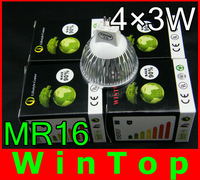4pcs/lot 12W 960LM CREE CE MR16 High Power LED Lamp,led spot lighting holiday sale FREE SHIPPING