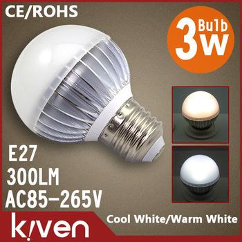 2014 High Power 3W LED bulb light E27 CREE AC85~265V Cool whiteWarm white led spotlight bulb lamp