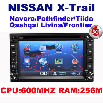 Car DVD for Nissan X-Trail paladin Navara Pathfinder Tiida Qashqai Livina sunny  PATROL NV200 VERSA 350Z With GPS + 3G HOST