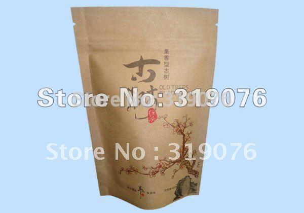 Usine directement la vente 100 pcs/lots gros usine de papier kraft aluminium standup zipper lock sacs d'emballage