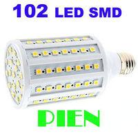 High quality 2000LM SMD 5050 20W 220V E27 LED lamp Warm white/white 5050SMD 102LED E27 Corn Bulb Light Free shipping 1pcs