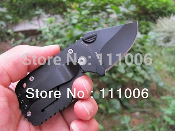 Boker - QQ Black Pig Hunting Folding Pocket Mini knife Tactical 55HRC 420 Best Gift Free Shipping (50g)