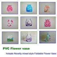 Free Shipping 10 pcs Hot Sale Novelty Foldable Plastic PVC Mini Fish Jar Bowl Tank Acrylic Aquarium