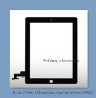 5pcs/lot Touch Screen for iPad 2 Digitizer+Adhesive Sticker( free) Free Shipping by DHL EMS