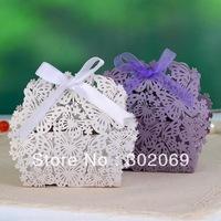 Butterfly & Flower Laser Cut Favor Box