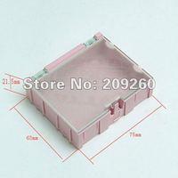 Wholesale 15pcs/lot Pink Kit SMD Components Boxes Electronic Laboratory Storage Box  Mini Storage box 75*63*21.5MM