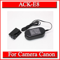 AC Power Adapter Charger ACK-E8 ACKE8 DRE8 DC Coupler fr Canon EOS 550D 600D 650D 700D T2i T3i T4i Kiss X4 X5 X6i 10 ps+Free DHL